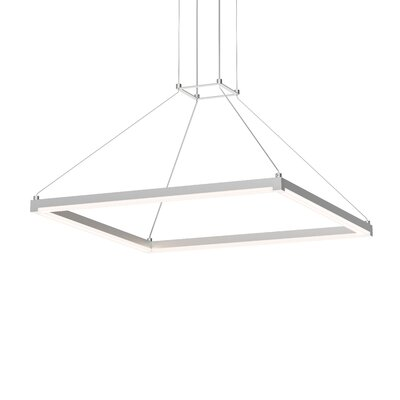 Poythress Modern LED Hardwired Geometric Pendant Finish: Bright Satin Aluminum