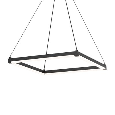 Penndel LED Hardwired Geometric Pendant Finish: Satin Black