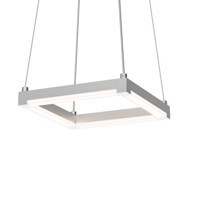 Penndel LED Metal Geometric Pendant Finish: Bright Satin Aluminum