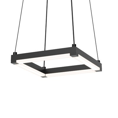 Poythress LED Metal Geometric Pendant Finish: Satin Black