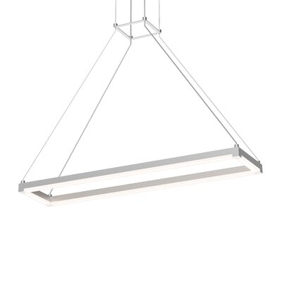 Poythress Modern LED Geometric Pendant Finish: Bright Satin Aluminum