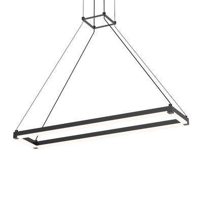 Poythress Modern LED Geometric Pendant Finish: Satin Black