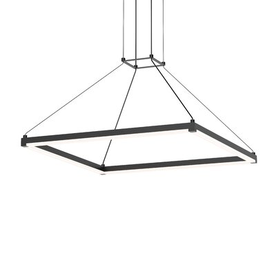 Penndel Modern LED Hardwired Geometric Pendant Finish: Satin Black
