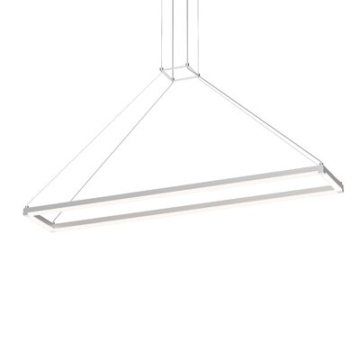 Poythress LED Geometric Pendant Finish: Bright Satin Aluminum