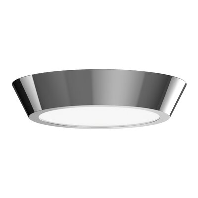 Dougherty 1-Light LED Flush Mount Finish: Polished Nickel