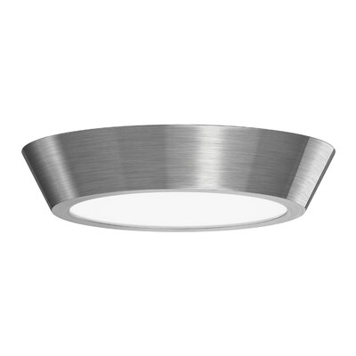 Dougherty 1-Light LED Flush Mount Finish: Satin Nickel