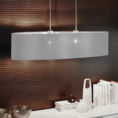 Newville 2-Light Wire Drum Pendant Shade Color: Gray/Silver