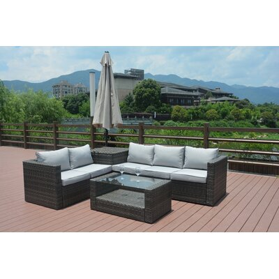 Jazmine 4 Piece Sectional Set with Cushion