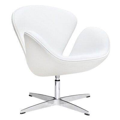 Murphey Leather Armchair Upholstery: White
