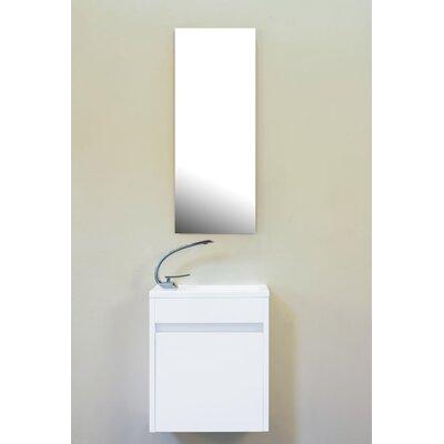 Hancock 17 Single Bathroom Vanity Base Finish: Glossy White