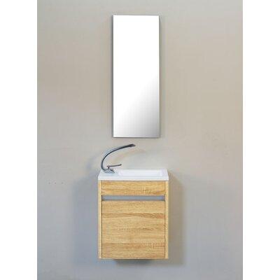 Hancock 17 Single Bathroom Vanity Base Finish: Desert Oak