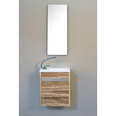 Hancock 17 Single Bathroom Vanity Base Finish: Mountain Oak