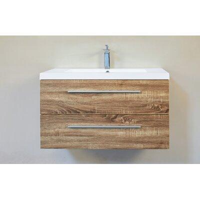 Hancock 36 Single Bathroom Vanity Base Finish: Mountain Oak