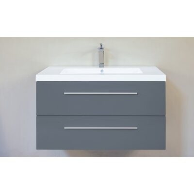 Hancock 36 Single Bathroom Vanity Base Finish: Glossy Grey
