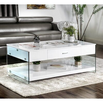 Destanee Contemporary Coffee Table Finish: White