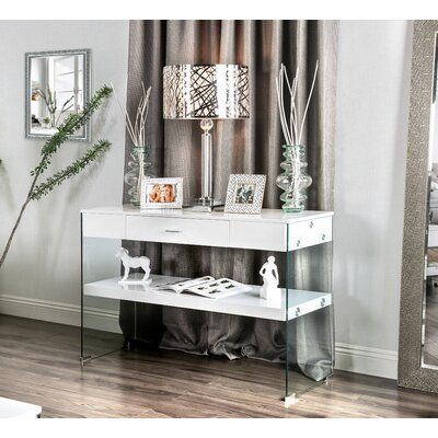 Destanee Contemporary Console Table Finish: White