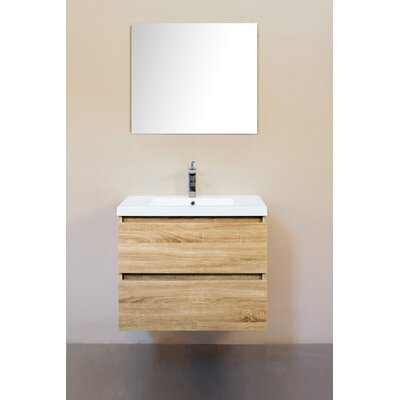 Samaira 30 Single Bathroom Vanity Set Base Finish: Light Oak