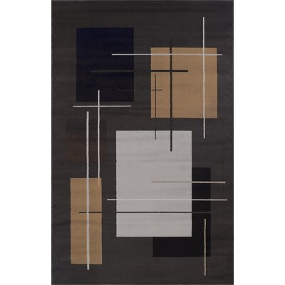 Matheus Black/Beige Area Rug Rug Size: Rectangle 5 x 8