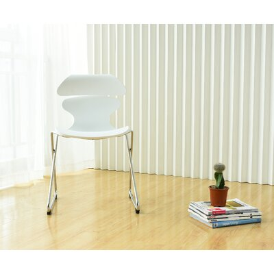Brad Adjustable Height Swivel Bar Stool Finish: White