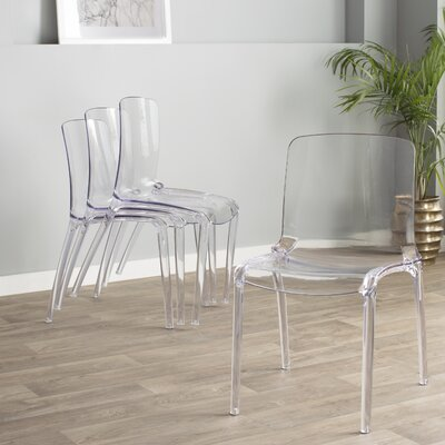 Maryln Side Chair Finish: Transparent Clear