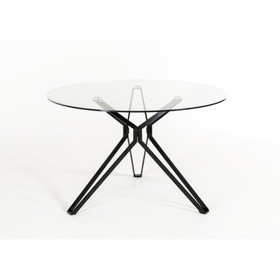 Clower Tempered Glass Top Dining Table