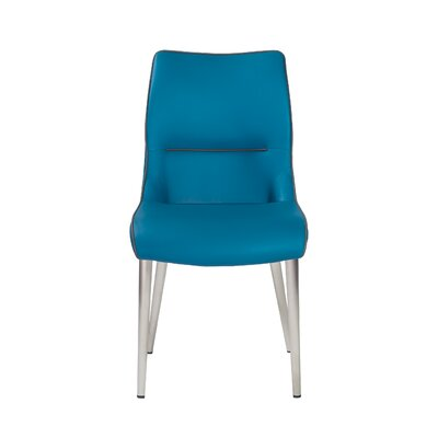 Ansell Side Chair (Set of 2) Upholstery: Blue