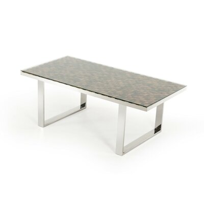 Clower Modern Wood Top Dining Table