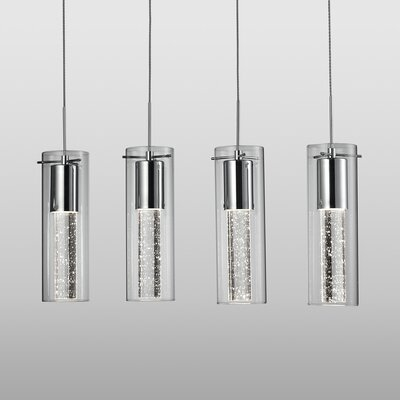 Epstein Bubbles 4-Light Crystal Pendant