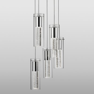 Abboud Bubbles 5-Light Crystal Pendant
