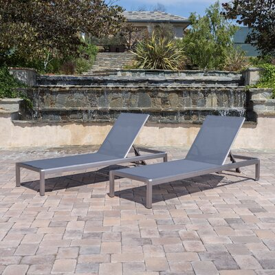 Lacon Modern Outdoor Mesh Chaise Lounge