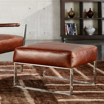 Irvin Top Grain Contemporary Ottoman