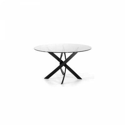 Clower X-Leg Base Dining Table Base Finish: Black