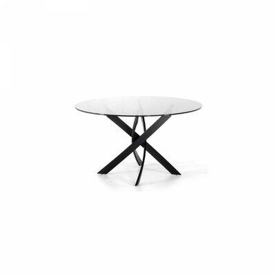 Clower X-Leg Base Dining Table Base Finish: Black