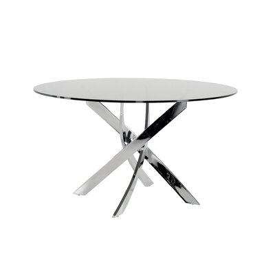 Clower X-Leg Base Dining Table Base Finish: Chrome