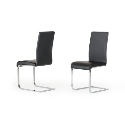 Clower Upholstered Metal Frame Side Chair Finish: Black