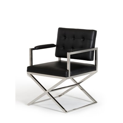 Clower Modern Arm Chair Upholstery: Black