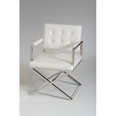 Clower Modern Arm Chair Upholstery: White