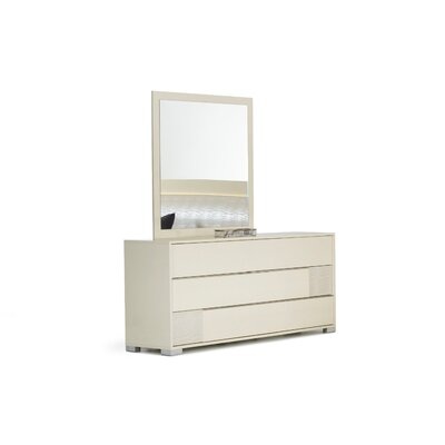 Camron 6 Drawer Sandard Dresser Color: Beige