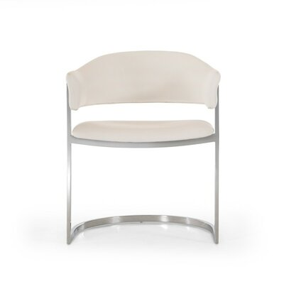 Clower Contemporary Arm Chair Upholstery: White