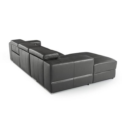 Galena L-Shaped Leather Reclining Sectional