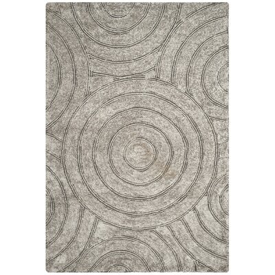 Minnich Hand-Tufted Silver Area Rug Rug Size: Rectangle 6 x 9