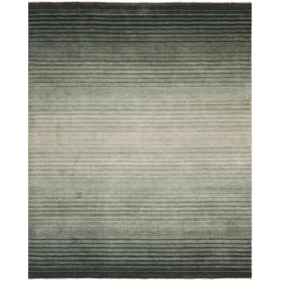 Armstrong Hand-Knotted Blue Area Rug Rug Size: Rectangle 8 x 10