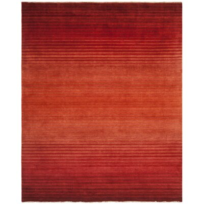 Armstrong Hand-Knotted Rust Area Rug Rug Size: Rectangle 8 x 10