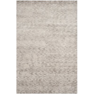 Armstrong Abstract Hand-Knotted Gray Area Rug Rug Size: Rectangle 6' x 9'