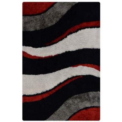 Abia Contemporary Hand Tufted Black/Gray Area Rug Rug Size: 8 x 10