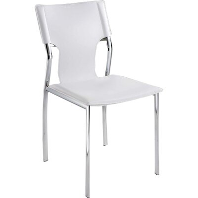 Ashli Upholstered Dining Chair (Set of 4) Upholstery: White