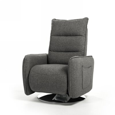 Faviola Manual Swivel Recliner Color: Blue