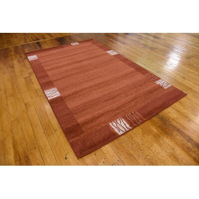 Christi Red Area Rug Rug Size: Rectangle 5 x 8