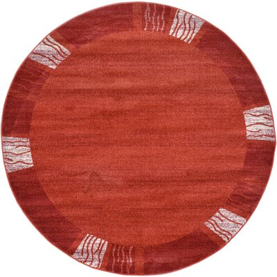 Christi Red Area Rug Rug Size: Round 6