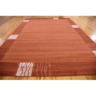 Christi Red Area Rug Rug Size: Rectangle 9 x 12